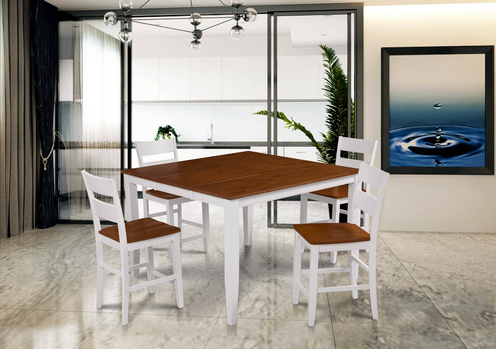 Fullerton Counter Height 5 Piece Dining Set
