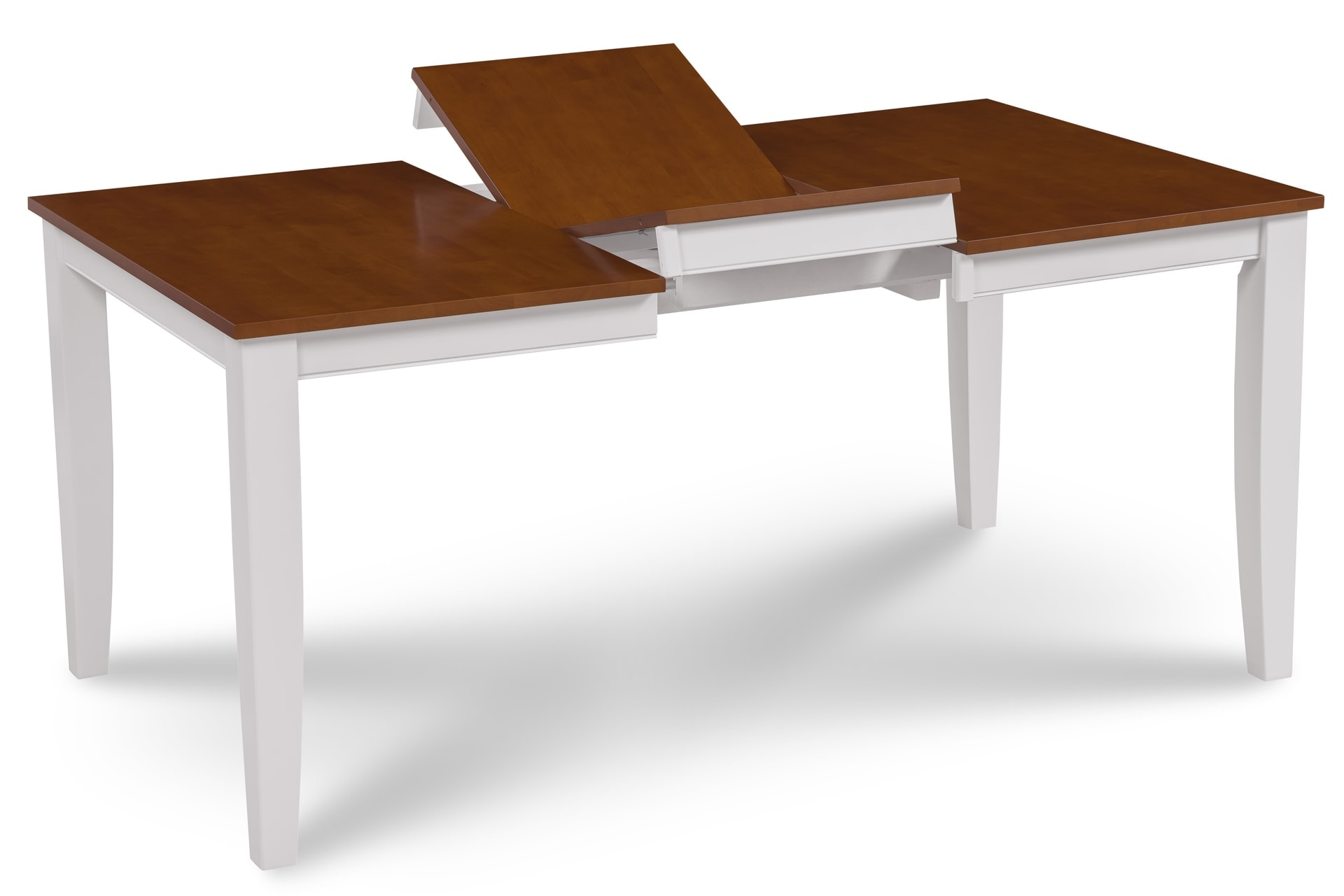 Fullerton Folding Dining Table In White With Cherry Top