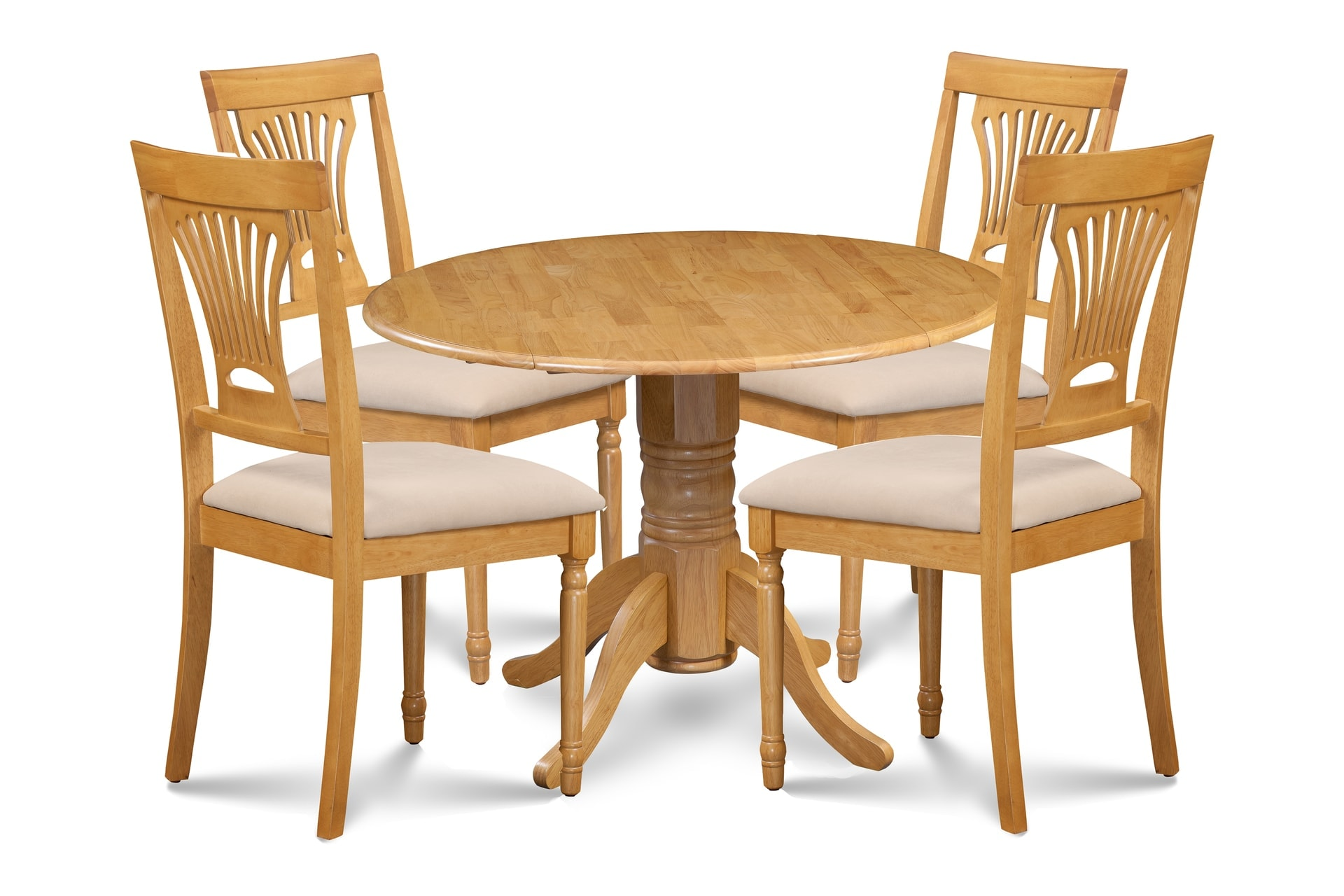 Groovy Portland Solid Wood Dining Set Of 5 With Dunes Table In Oak Finish Creativecarmelina Interior Chair Design Creativecarmelinacom