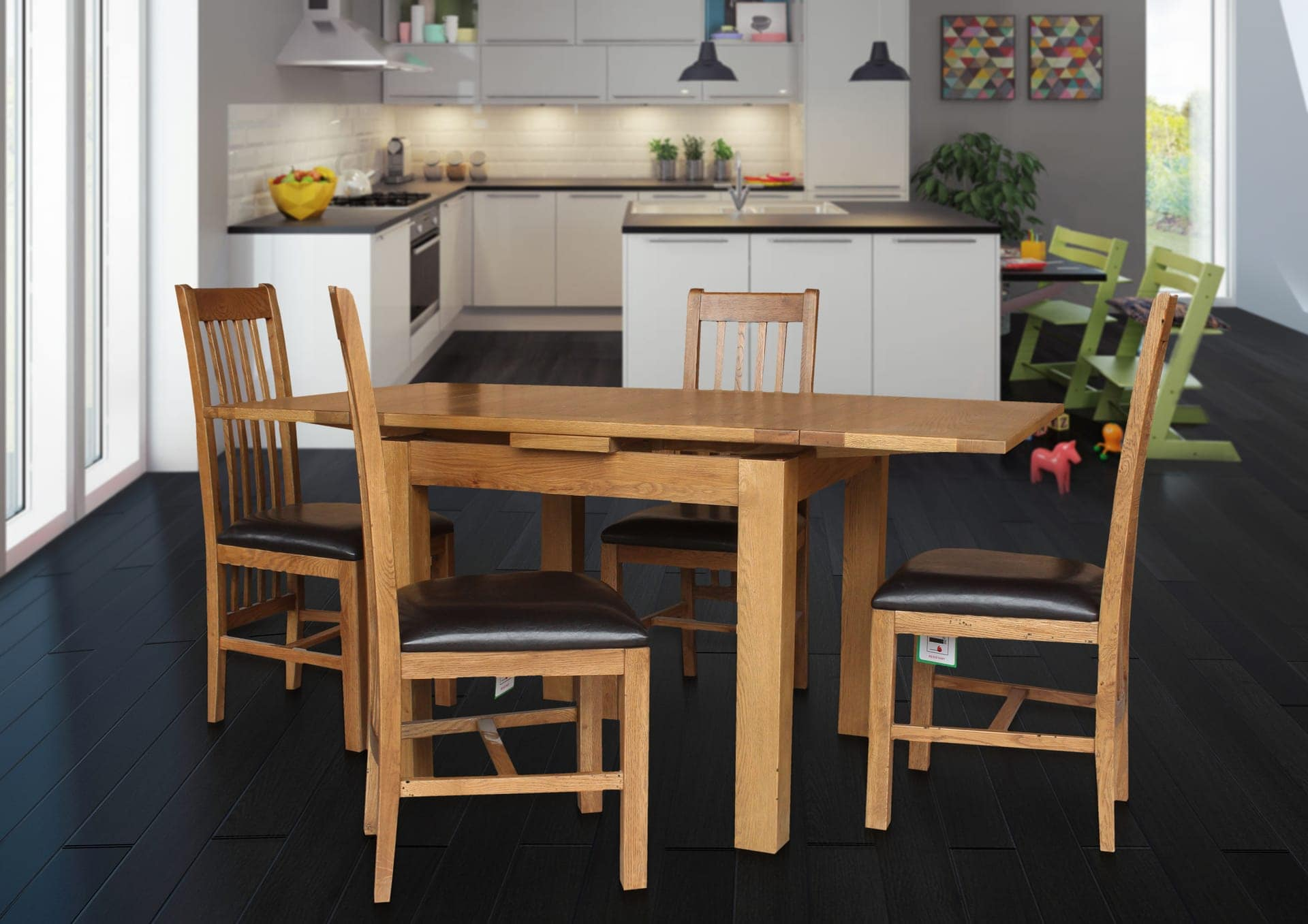 Hillsboro Dining Set Of 5 With Vancouver 1600 Table And 4 Chairs