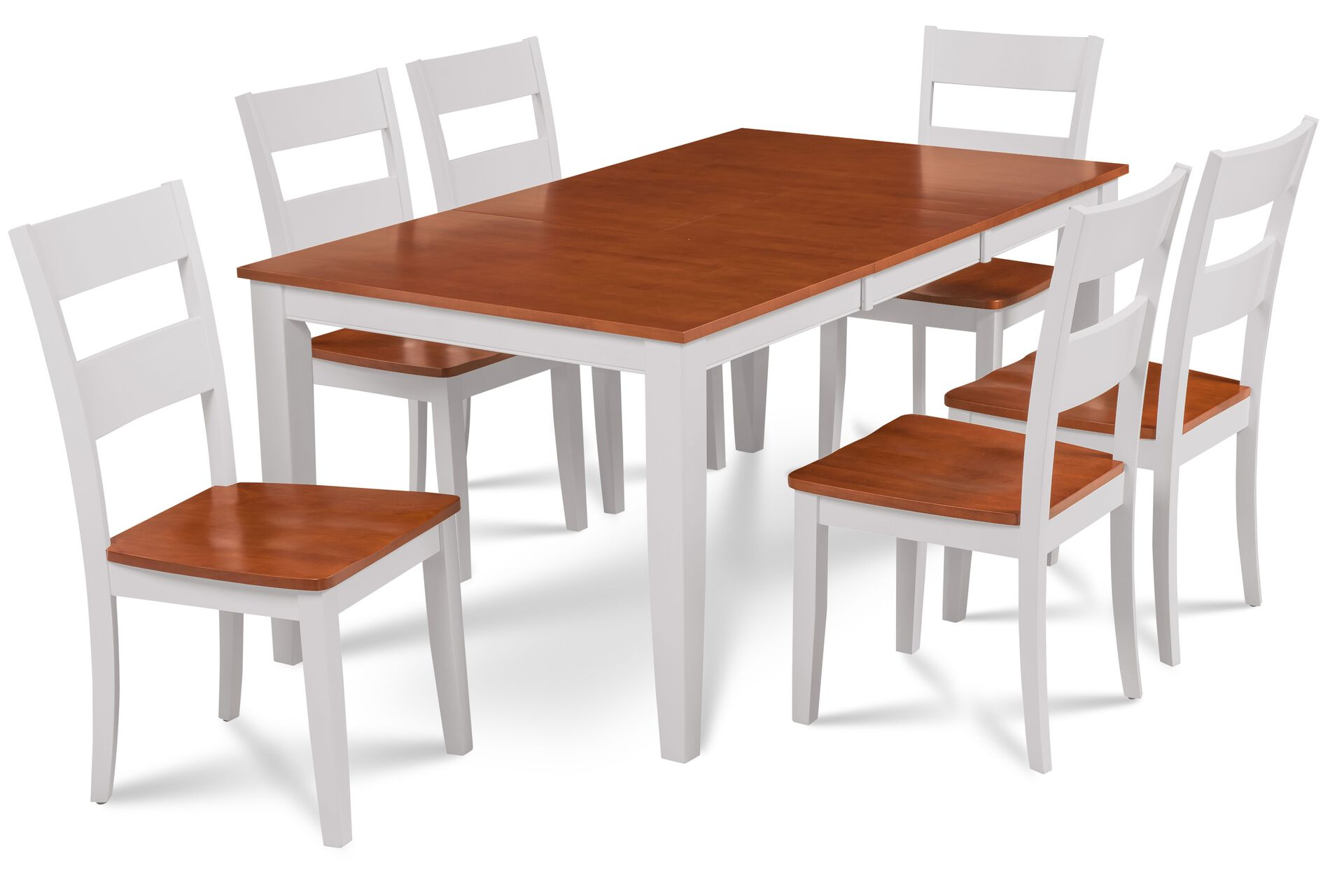 Fullerton 7 Piece Solid Wood Cherry Top Dining Set With Extendable Table